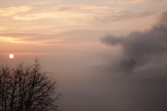 Sonnenuntergang in Biberstein